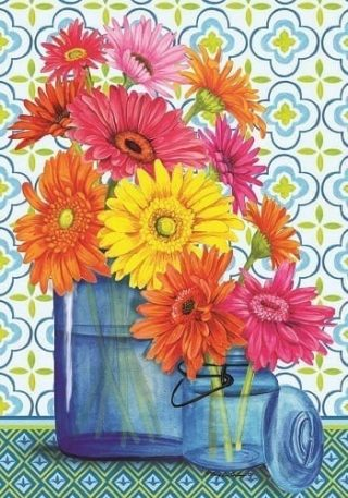 Gerbera Jars Flag | Spring Flags | Floral Flags | Summer Flags | Cool Flag