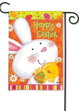 Bunny Love Garden Flag | Easter Flags | Holiday Flags | Cool Flags