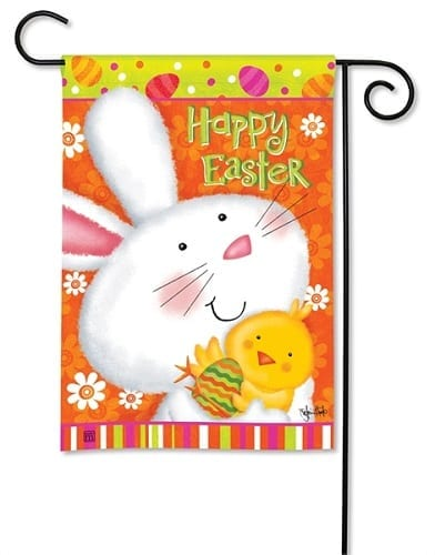 Bunny Love Garden Flag | Easter Flags | Decorative Flags | Garden House Flags