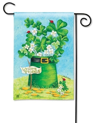 Shamrocks and Ladybugs Garden Flag