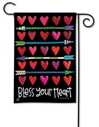 Hearts and Arrows Garden Flag   Valentine's Day Flags   Yard Flags
