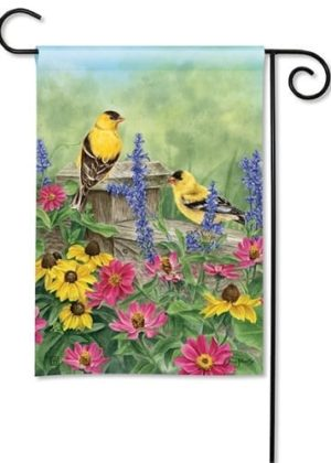 Garden Finches Flag | Decorative Flag | Garden Flag | Garden House Flag