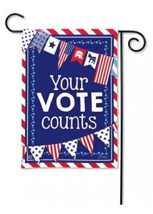 Your Vote Counts Garden Flag | Garden Flags | Political Flags | Yard Flags