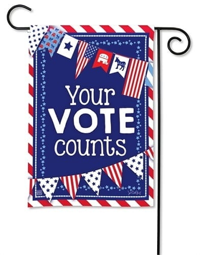 Your Vote Counts Flag | House Flags | Garden Flags | Garden House Flags