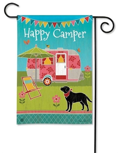 Camping Out Flag | Decorative Flags | Garden Flags | Garden House Flags