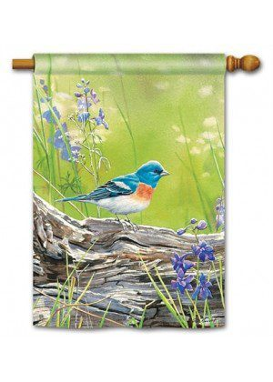 Meadow Bluebird House Flag | Bird Flags | Floral Flags | Yard Flags
