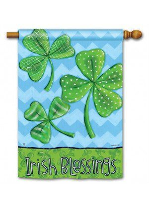 Irish Blessings House Flag | St. Patrick's Day Flags | Yard Flags | Cool Flag