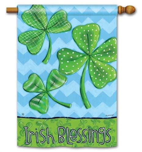 Irish Blessings House Flag | St. Patrick's Day Flags | Flags | Garden House Flags