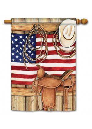 American Cowboy House Flag | Patriotic Flags | 4th of July Flag | Cool Flag