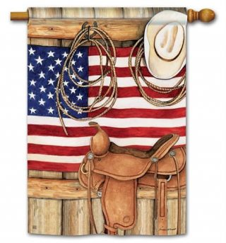 American Cowboy House Flag   Patriotic Flags   4th of July Flag   Cool Flag