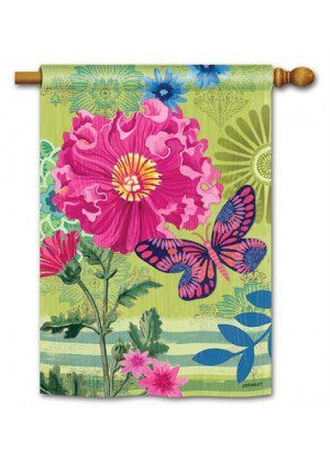 Capistrano Peony House Flag | Floral Flags | Spring Flags | Yard Flags