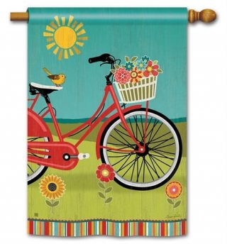 Summer Ride House Flag | Summer Flags | Floral Flags | Yard Flags | Flag