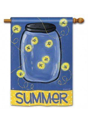 Summer Fireflies House Flag | Summer Flags | House Flags | Yard Flags
