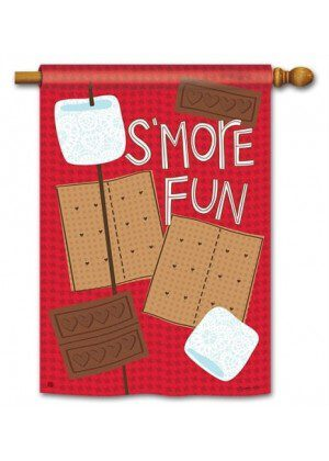 S'more Fun House Flag | Summer Flags | Fall Flags | Yard Flags | Flags