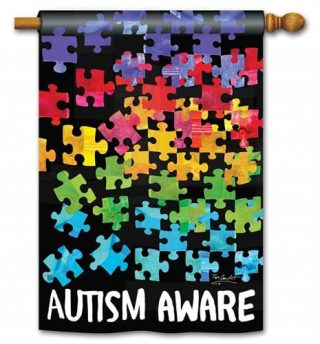 Autism Awareness House Flag | Double Sided Flags | Flags | Yard Flags