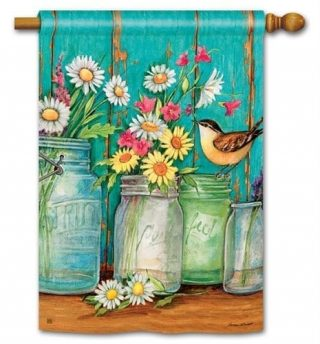 Just Picked House Flag | Floral Flags | Bird Flags | Yard Flags | Cool Flags