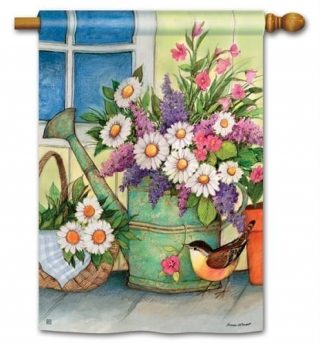 Front Porch Flowers House Flag | Floral Flags | Spring Flags | Yard Flags