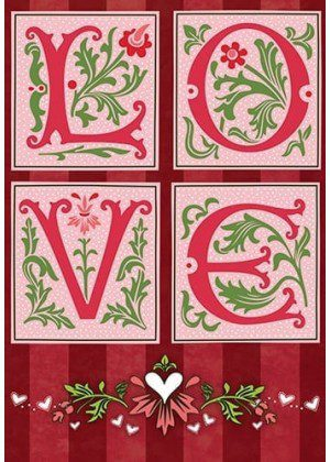 Love Pink Flag | Valentine's Day Flag | Yard Flags | Inspirational Flags