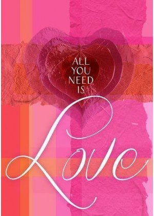 All You Need Is Love Flag | Valentine's Day Flag | Garden Flags | Cool Flag
