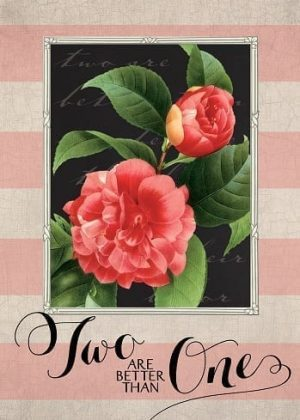 Two Are Better Flag | Valentine's Day Flags | Floral Flags | Yard Flags