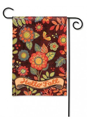 Hello Fall Garden Flag | Fall Flags | Floral Flag | Welcome Flag | Yard Flag