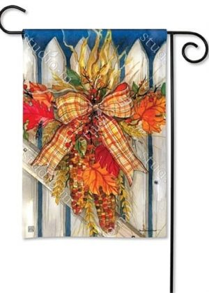 Autumn Gate Garden Flag | Fall Flags | Floral Flags | Thanksgiving Flags
