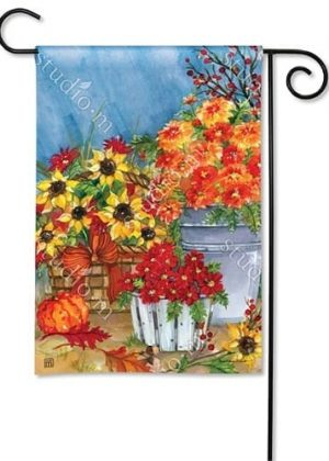 Mums the Word Garden Flag | Fall Flags | Floral Flags | Yard Flags