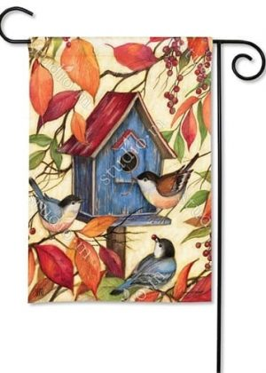 Welcome Neighbors Garden Flag | Fall Flags | Bird Flags | Yard Flags