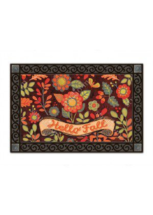 Hello Fall Doormat | Decorative Doormat | MatMates | Garden Decor