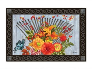 Time to Rake Doormat | Doormats | MatMates | Decorative Doormats