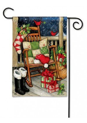 Santa Porch Garden Flag | Christmas Flags | Holiday Flags | Yard Flags