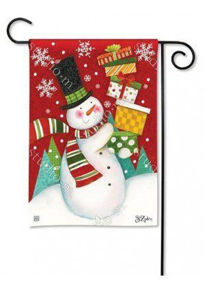 Happy Snowman Garden Flag | Christmas Flags | Yard Flags | Cool Flags