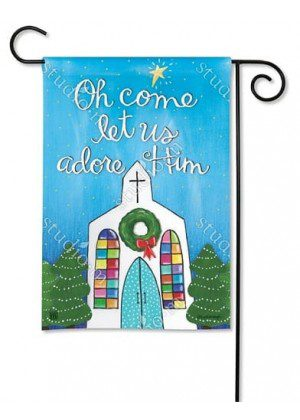 Adore Him Garden Flag | Christmas Flags | Decorative Garden Flags