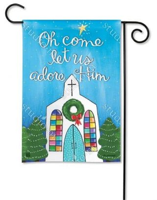 Adore Him Garden Flag | Christmas Flags | Cool Flags | Inspirational Flags