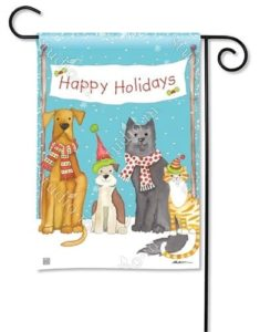 Pet Holidays Garden Flag | Christmas Flags | Holiday Flags | Winter Flags