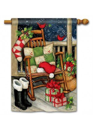 Santa Porch House Flag | Christmas Flags | Holiday Flags | Yard Flags