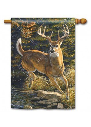 Whitetail Buck House Flag | Fall Flags | Wildlife Flags | Yard Flags | Flags