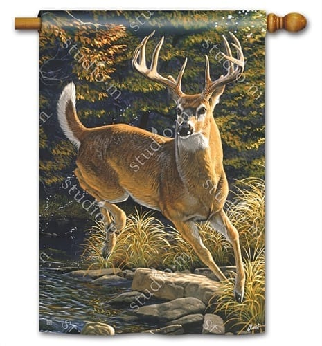 Whitetail Buck Flag | Decorative Flags | House Flags | Garden House Flags