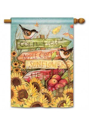 Signs of Fall House Flag   Fall Flags   Floral Flags   Bird Flags   Flags