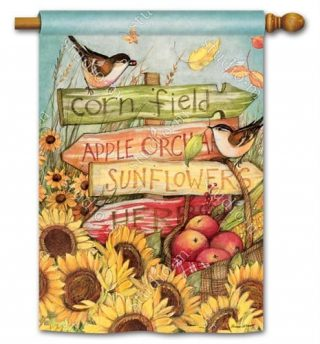 Signs of Fall House Flag | Fall Flags | Floral Flags | Bird Flags | Flags
