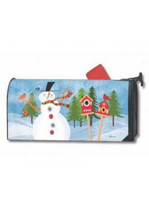 Snowman Whimsy Mailbox Cover | Decorative Mailwraps | Mailbox Covers