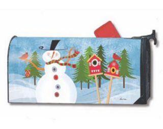 Snowman Whimsy Mailbox Cover   Decorative Mailwraps   Mailbox Covers