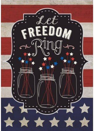 Freedom Chalkboard Flag | Patriotic Flags | 4th of July Flag | Summer Flag