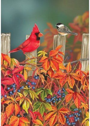 Songbird Fence Flag | Fall Flag | House Flag | Bird Flags | Garden Flags