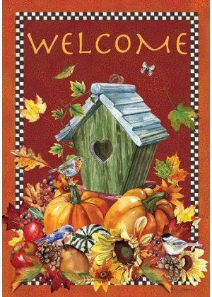 Welcome Autumn Birdhouse Flag | Fall Flags | Welcome Flags | Cool Flags