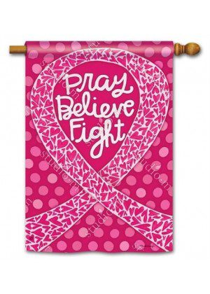 Think Pink House Flag | Inspirational Flags | Charity Flags | Yard Flags