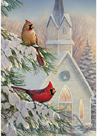 Church Cardinals Flag | Christmas Flags | Bird Flags | Winter Flags | Flag