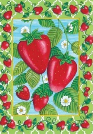 Strawberries Flag | Spring Flags | Summer Flags | Garden Flags | Flags