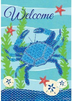 Welcome Blue Crab Flag | Nautical Flags | Welcome Flags | Cool Flags