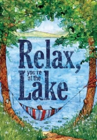 Relax at the Lake Flag | Spring Flags | Summer Flags | Double Sided Flags